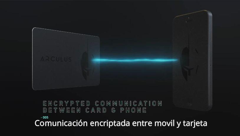 Tarjeta monedero digital Arculus tarjeta con comunicación encriptada.