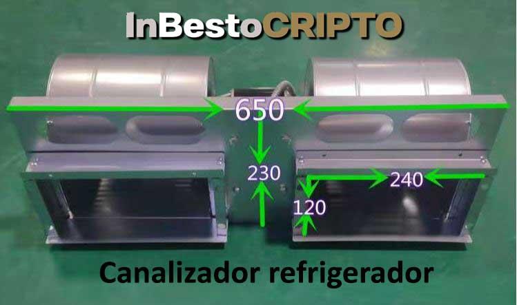 refrigerador maquina de minería por aire