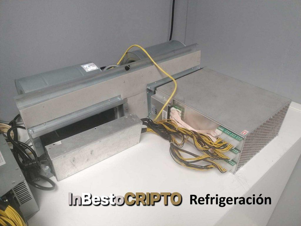 refrigeración minería de criptomonedas